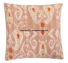 Indian Kantha cushion cover Paisley Print Square Shape Pillow Throw Decor Art