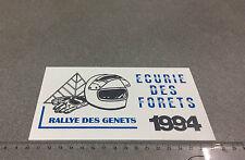PLAQUE PVC CHAMPIONNAT DU MONDE RALLYE DES GENETS WRC 1994 ECURIE DES FORETS