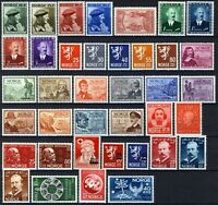 Norway 1946-49, 4 Complete years all VF MNH, NK 345-382, Mi 310-347 cat 214€