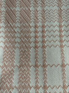 """2 1/4 Yrds X 62"""" Vintage Polyester Knit Stripe Sewing Fabric Upholstery 60s 70s"""