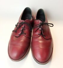 Footonic II - Burgundy leather Lace up Comfort Men's Shoes Made USA Size 10E