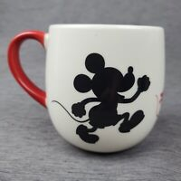 RARE Mickey Mouse Walt Disney Target Coffee Cocoa Mug Tea Cup Red Black White