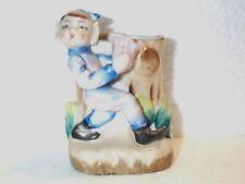 Vintage Pixie Elf w/Tulip Planter Excellent Japan By Acme China Adorable Oldie!