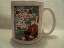 "Leanin' Tree ~ 12 Oz. Ceramic Gift  Mug ""KEEP CHRISTMAS IN YOUR HEART"""