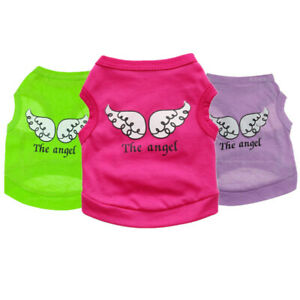 Extra Small Medium Pet Girl Dog Clothes Shirt Male Cat Puppy Vest for Chihuahua