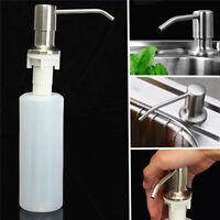 US 350ML Kitchen Sink Liquid Bathroom Soap Dispenser Brushed Nickel Head Bottle