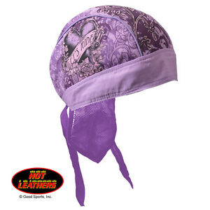 Hot Leathers® Premium Head Wrap Purple Stained Heart HWH1060 Ladies Head Wear