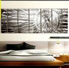 """Modern Metal Wall Art XL 96""""×36""""  Abstract Silver Sculpture Original Jon Allen"""