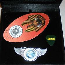 Zz Top Hill Gibbons Fandango Rock Band Wing Live Concert Hat Jacket Pick Pin El