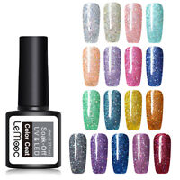 LEMOOC 8ml Starry Sky Glitzern UV Gellack Shimmer Sequins Soak Off Nagel Gel