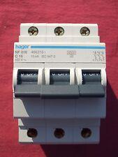 Réf NF316 OU NFN316 DISJONCTEUR HAGER 3P 16A 6/10kA COURBE C 230;400V NEUF