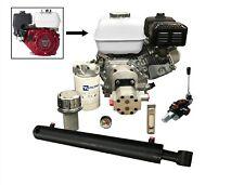 Log Splitter Kit With Honda 55hp Engine Incl Flowfit Auto Kickout Lever Valve