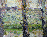 Vincent Van Gogh View Of Arles Fine Art Print Canvas Reproduction Painting Small
