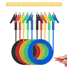 5pcs Dual Ended Crocodile Alligator Clips 15a Test Lead Wire Cable Kit 33ft1m