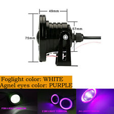 "3"" Purple COB Projector Fog Driving Lamp Angel Eye Halo Ring DRL Daytime Light"