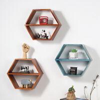 Wooden Shelf Wall Mounted Storage Rack Shelves Floating Magazine Books Display