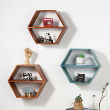 Wooden Shelf Wall Mounted Storage Rack Shelves Floating Magazine Books Display