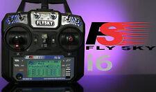 New FlySky FS-i6 2.4G 6CH AFHDS RC Transmitter FS-iA6 Receiver Remote Controller