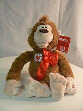 Gund MAILIN monkey plush NWT LOVE Sound Motion Signed Sealed Delivered