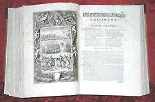 Libro 1730 Opere di Ludovico Ariosto Orlando Furioso Acqueforti Orlandini Folio