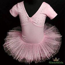 Pink Sequins Girl  Tulle Ballet Dancewear Tutu Dance Costume Dress Sz 6-7 BA003