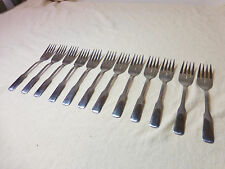 12 WMA ROGERS ONEIDA STAINLESS FRIENDSHIP SALAD FORKS