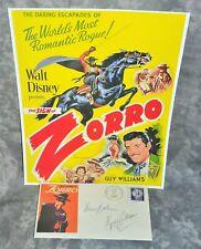 "Guy Williams Pre-Printed Copy of Original Signature ""Zorro"" Envelope & HP Photo"