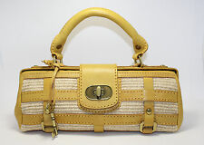 Fossil Fifty-Four Yellow Satchel Baguette Purse Bag ZB157C New