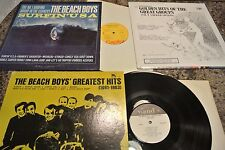 BEACH BOYS Surfin' USA CAPITOL LP VG+  + GR. HITS 1961-63  VG+ / BONUS SS  G901