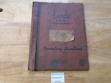 "B34 Landis 4"" Type H Hyd. Grinding Machine Operator's & Parts Schematic Manual"