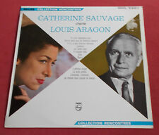 CATHERINE SAUVAGE  LP ORIG FR CHANTE LOUIS ARAGON