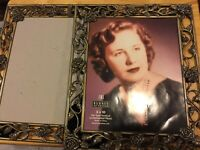 ❤️Burnes of Boston picture frame (1) Gold/Bronze Roses Floral Easel 8X10