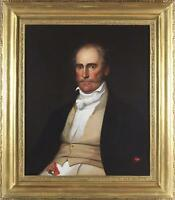 English School Large Antique 19thC Oil Painting Portrait of a Victorian Gent