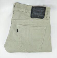 Levis 513 mens tag size 32x32 khaki tan chino pants 32x30 MEASURED size A18-8