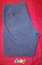 Banana Republic MEN BLUE CHAMBREY Linen BLEND AIDEN FLAT FRONT Shorts sz 36 NICE