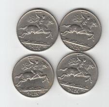 More details for albania 1926/ 31 full set (4) x 1leke alexander the great coins king zogu i km#5