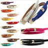 Ladies Women Fashion Skinny Thin Faux Leather Waist Belt UK Seller Fast Shipping