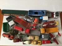 Vintage Toys Job Lot Cars Vans Lorries Corgi Matchbox Dinky USED for Restoration