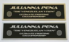 Julianna Pena UFC nameplate for signed mma gloves photo or case