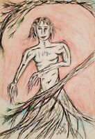 Prince Dryad Tree Spirit Art Print 8 x 10 by Artist Kimberly Helgeson Sams 2020