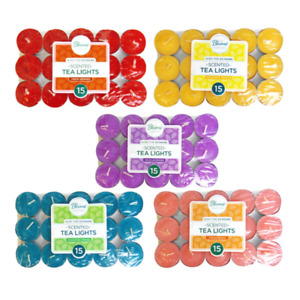 15 PK SCENTED CANDLES TEALIGHTS TEA LIGHT CANDLE PACK WEDDING PARTY LOVE