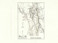 """Map of the """"Advance to Rangoon"""" 1945"""