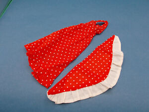 Vintage Barbie Halter Dress Shawl 1970s Red White Polka Dots Pristine Condition!