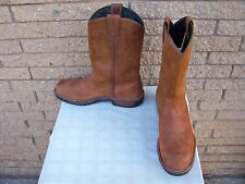 RED WING men's 13D #1122 PECOS boots brown leather pull-ons western work biker