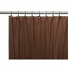 Carnation 4 Gauge Vinyl Shower Curtain Liner Weighted Metal Grommets Brown 72x72