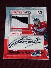 10-11 ITG Heroes & Prospects STEVEN STAMKOS Team Canada AUTO EMBLEM /6 Autograph