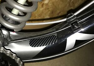 Carbon Effect Frame Chainstay Patch Rubbing Protection Set - Not Helicopter Tape