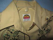 Vtg Miller Western Women's LS Shirt Sz 12/34 (S/M) Embroidered Pearl Snap Button