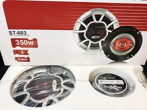 """Soundxtreme 4x6"""" in 3-Way 220 Watts Coaxial Car Speakers Pair CEA Rated NEW"""