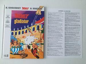 ASTERIX GLADIATOR + LEXIQUE - EDITION EN LATIN - GOSCINNY UDERZO - EHAPA